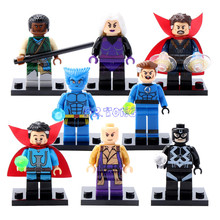 DR TONG Super Heroes Doctor Strange Mr Fantastic Baron Mordo Clea Ancient One Mini Dolls Building