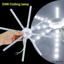 Plafonnier LED circulaire blanc en forme de poulpe, éclairage de remplacement, 5730SMD, ac 220v 24W