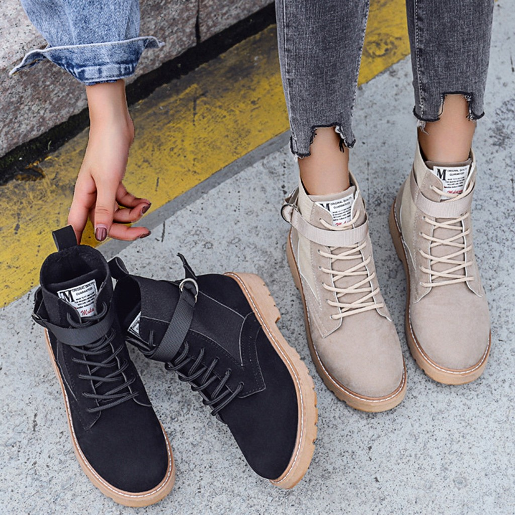 Perimedes Women's Flock Boots Sewing Solid Boots Women Slip-On Buckle Women Boots Autumn In Ankle Boots bota feminina 2