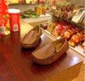 2016 hijo varón mocasines de color caramelo niños shoes kids shoes niños zapatilla de deporte de cuero albaricoque marrón negro tamaño 21-36