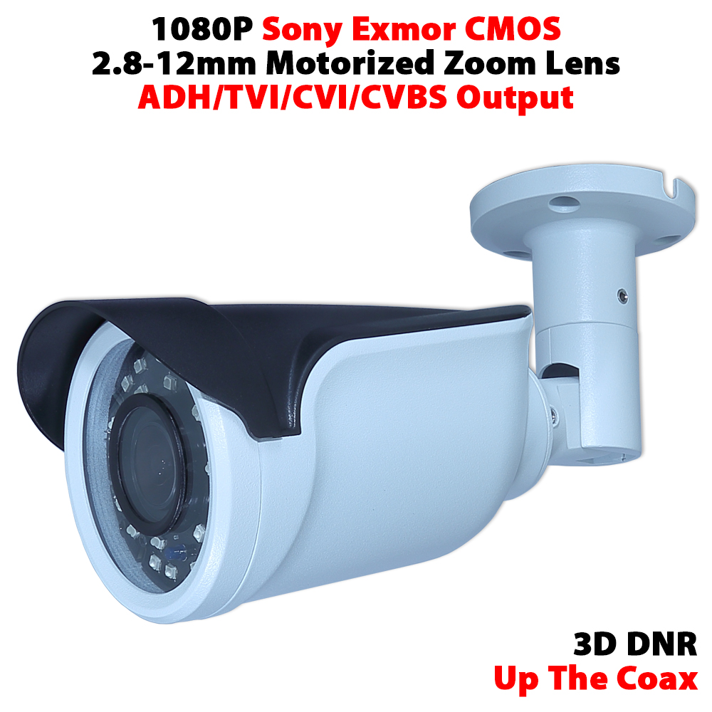 1080P sony IMX323 CMOS 2.8-12mm motorized zoom lens waterproof IR camera support UTC support AHD/TVI/CVI/CVBS 4 in 1 ir high speed dome camera ahd tvi cvi cvbs 1080p output ir night vision 150m ptz dome camera with wiper