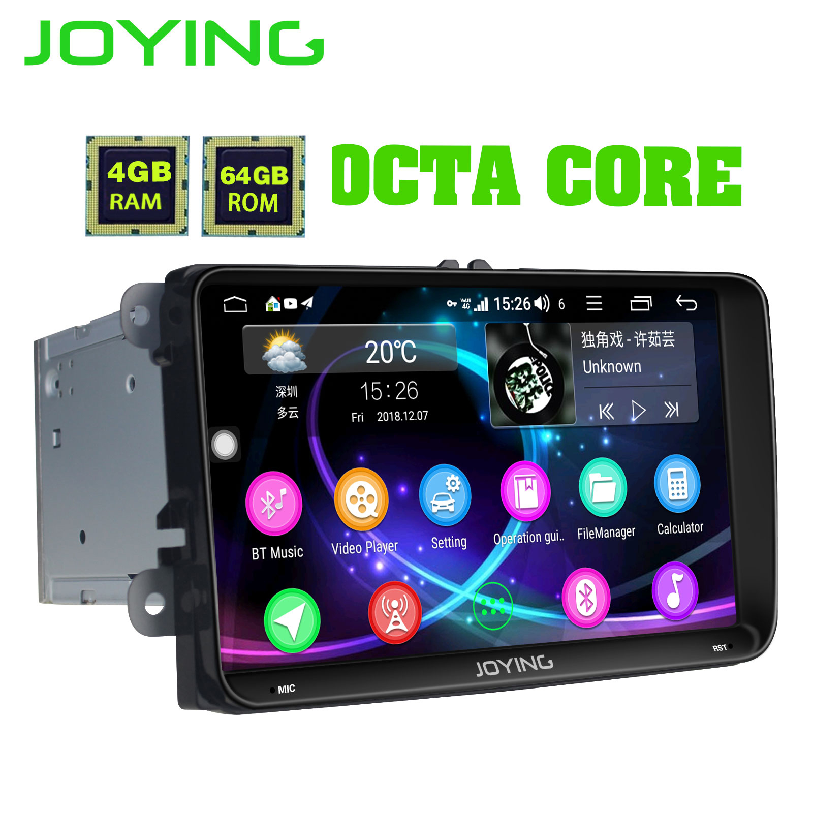 9 Intel 4GB 64GB Android 8 1 Car Radio Stereo Head Unit For Volkswagen VW Skoda