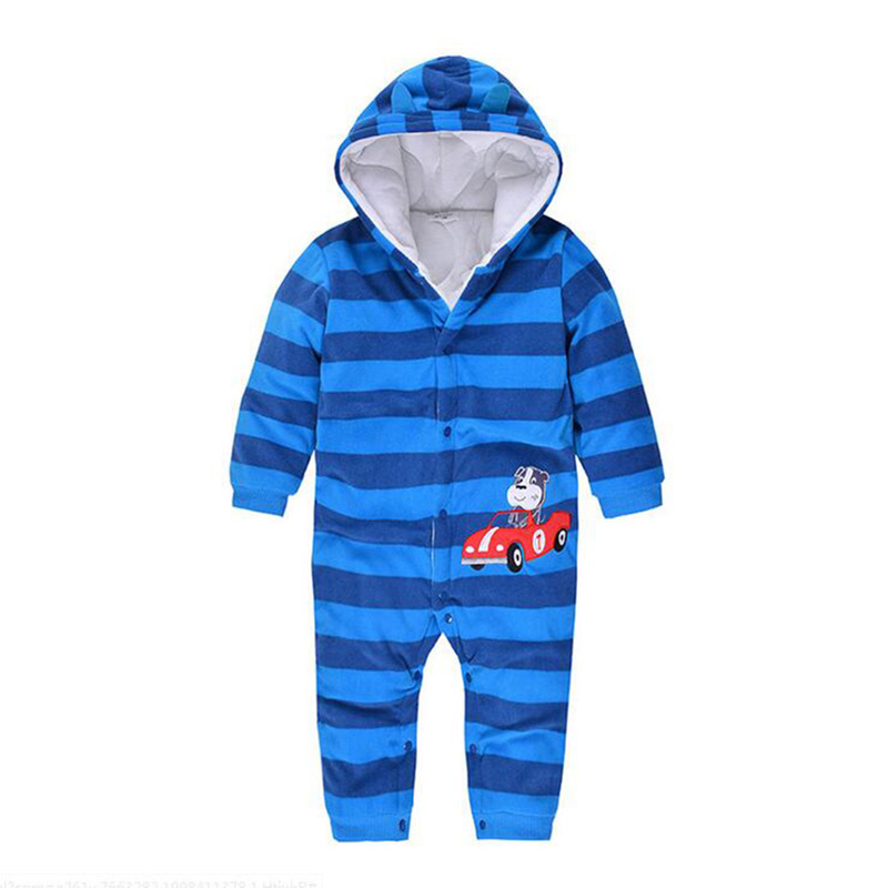 8c55acaaa Winter Coveralls Baby Boys Clothes Cartoon Animal Jumpsuit Baby ...