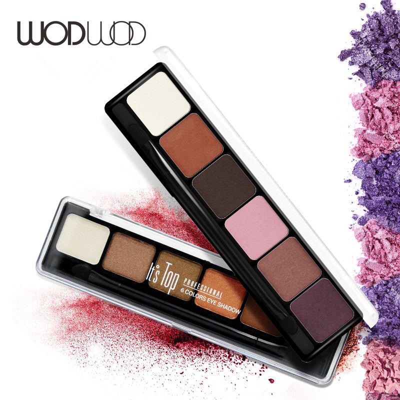 Wodwod Brand Glitter Eye Shadow Palette Set with Makeup Naked Eyeshadow Brush Tool Matte Natural Earth Balm Maquiagem 10 Color