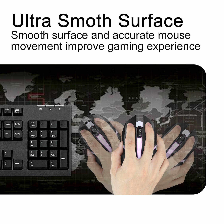 Besegad tapis de souris de jeu grand ordinateur chaud carte du monde Gamer tapis de souris tapis de bureau d'ordinateur portable pour Overwatch Lol Dota 2 800x300x2mm