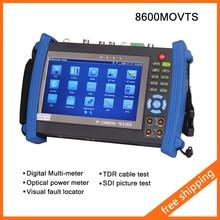 """Ipc-8600movts 7 """" de pantalla táctil IP cámara del probador del CCTV Tester POE WIFI Multi-meter medidor de potencia óptica Visual fault locator TDR SDI"""