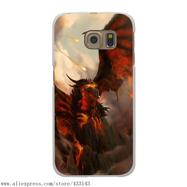 World of Warcraft Hard White Case Cover for Samsung Galaxy S7 S6 S8 & Edge Plus S5 S4 S3 & Mini