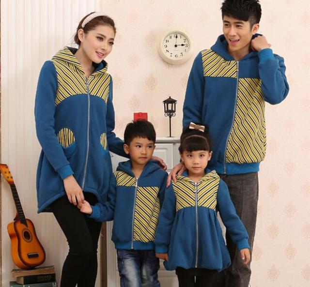 Família Casacos Listrados Crianças Zipper Hoodies Camisolas Casacos para Senhoras e Homens Casacos para Meninas e Meninos, CHH86B