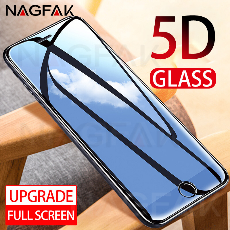 5D Tempered Glass for iPhone 6 Screen Protector 6s 8 Plus Phone Protective Protector on the for iPhone 7 Plus Tempered Glass