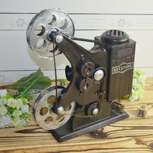 The old model of old tin projector decoration window display props movie projector retro gifts for children