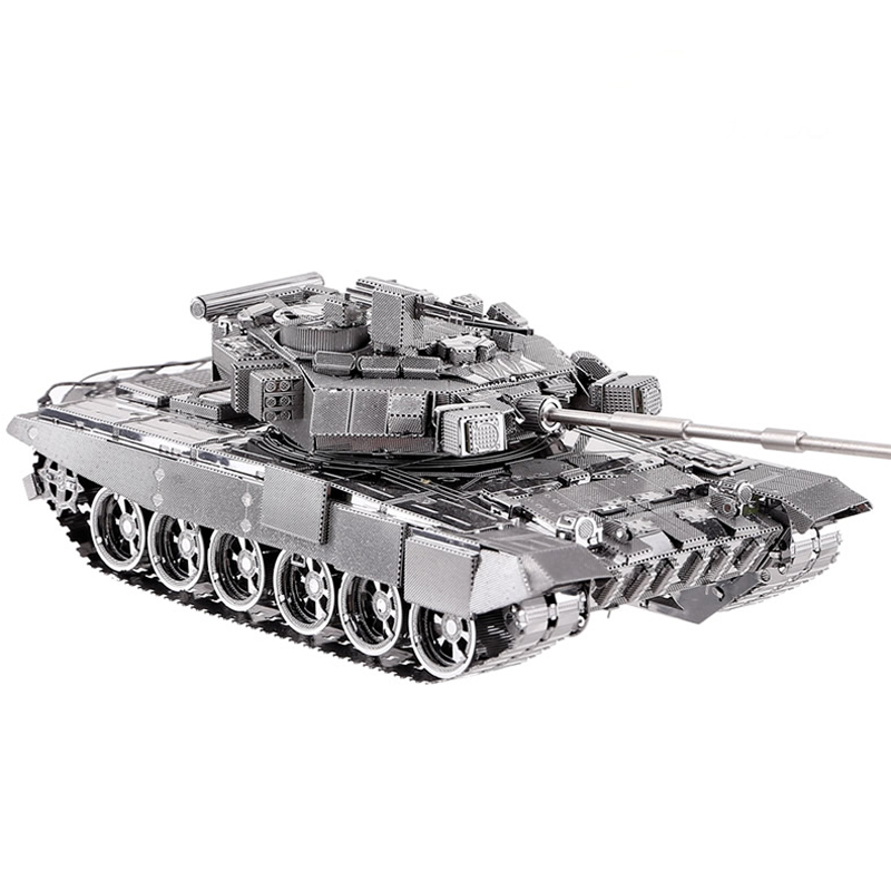 3D Metal Nano Puzzle T-90A Tank Model Kit P047-S DIY Toy 3D Laser Cut Assemble Jigsaw Toys metal puzzle diy 5pcs set tank model 3d model jigsaw metal scorpio tank tiger tank 3d model toy puzzle educational toys