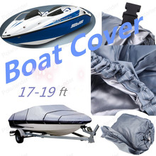 2016 NEW  Boat Cover 210D Oxford V-Hull Speedboat Cover 17 18 19 ft High Quality BOAT VOVER Prevent UV Sunproof Waterproof GREY