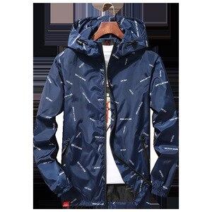 Image 5 - Nuovi uomini giacca con cappuccio Giubbotti Più Il Formato 10XL 9XL 8XL 7XL gli uomini Giacca A Vento Casual Cappotto per Uomo Tuta Sportiva Streetwear giacca