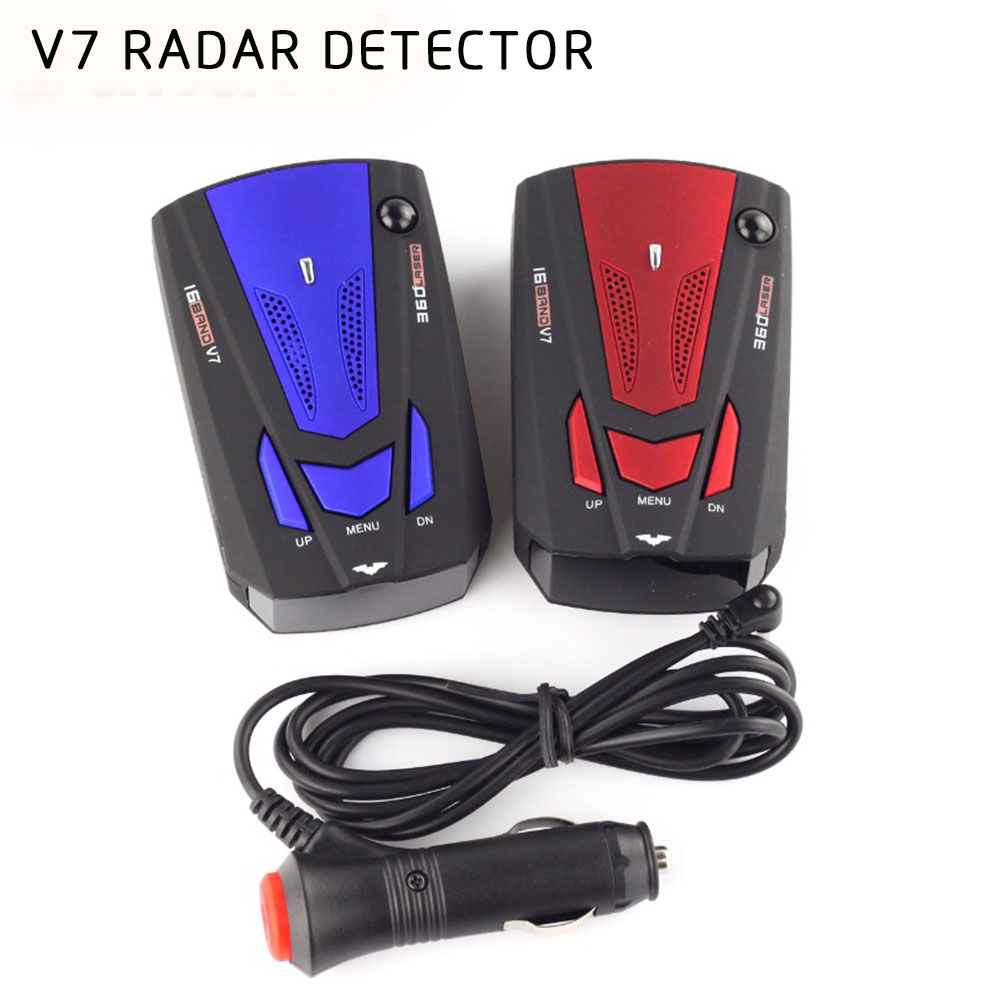 2018 New Arrival Vehicle Radar Detector 360 Degree Anti Car Detector V7 Speed Voice Alert Warning 16 Band Speed Control Detector