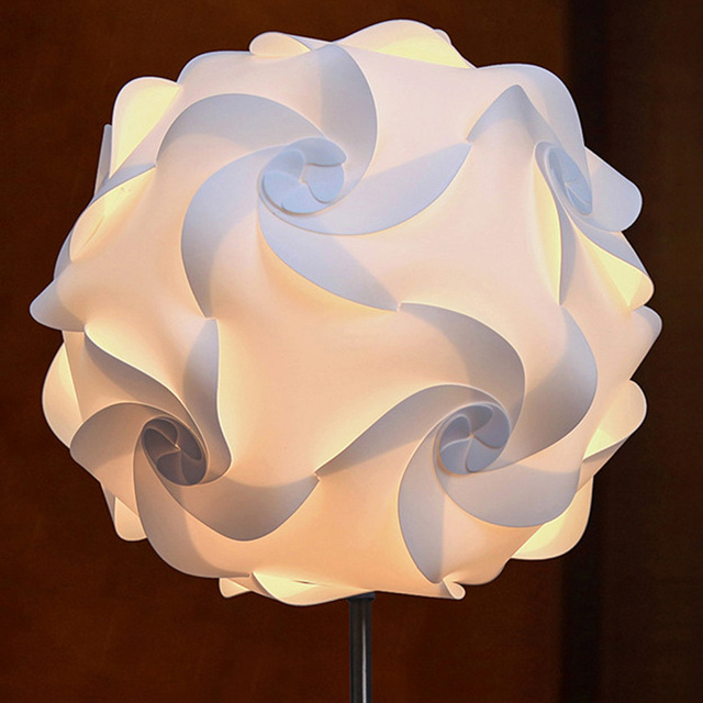 2pcs ceiling pendant diy iq jigsaw puzzle lamp shade kit lampshade 2pcs ceiling pendant diy iq jigsaw puzzle lamp shade kit lampshade white size 16 aloadofball Gallery