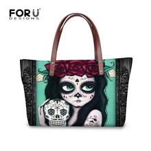 FORUDESIGNS New 2016  Women Skull Handbags Designer Luxury Brand Tote Bags Womens Clutch Handbag Famous Skull 3D Beach Big Bag