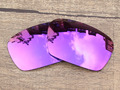 Plasma Purple Mirror Polarized Replacement Lenses For Badman Sunglasses Frame 100% UVA & UVB Protection