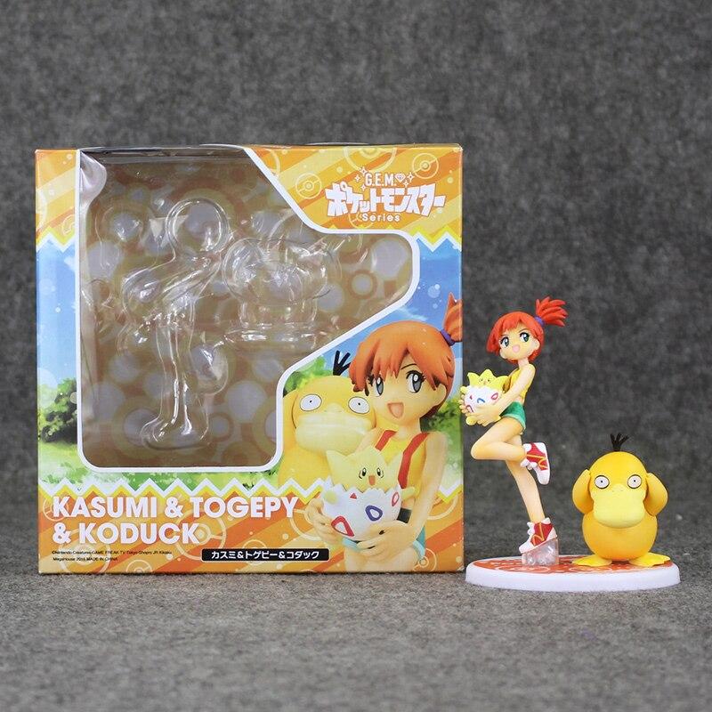 Figurine de film de balle danime Psyduck brumeux ensemble modèle jouet poupée en PVC 12 cm pour Collection