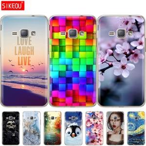Image 3 - Soft TPU Case for Samsung Galaxy J1 2016 J120 J120F SM J120F back cover 360 full protective printing transparent coque flower