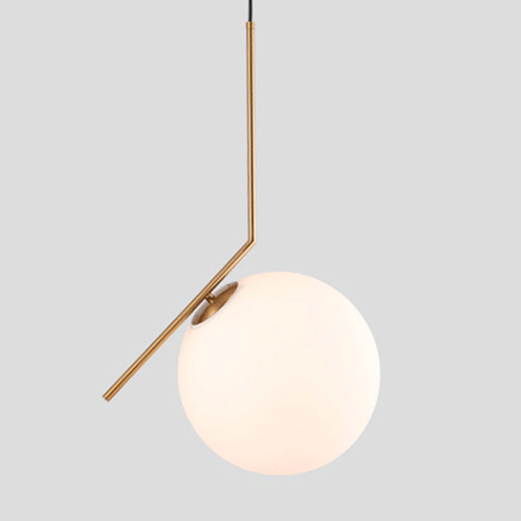 Modern Art Glass Ball Pendant Light Bedside Table Hanging Lighting Fixture E27 Pendant Lamp brass half round ball shade pendant light led vintage copper wooden lighting fixture brass wood fabric wire pendant lamp