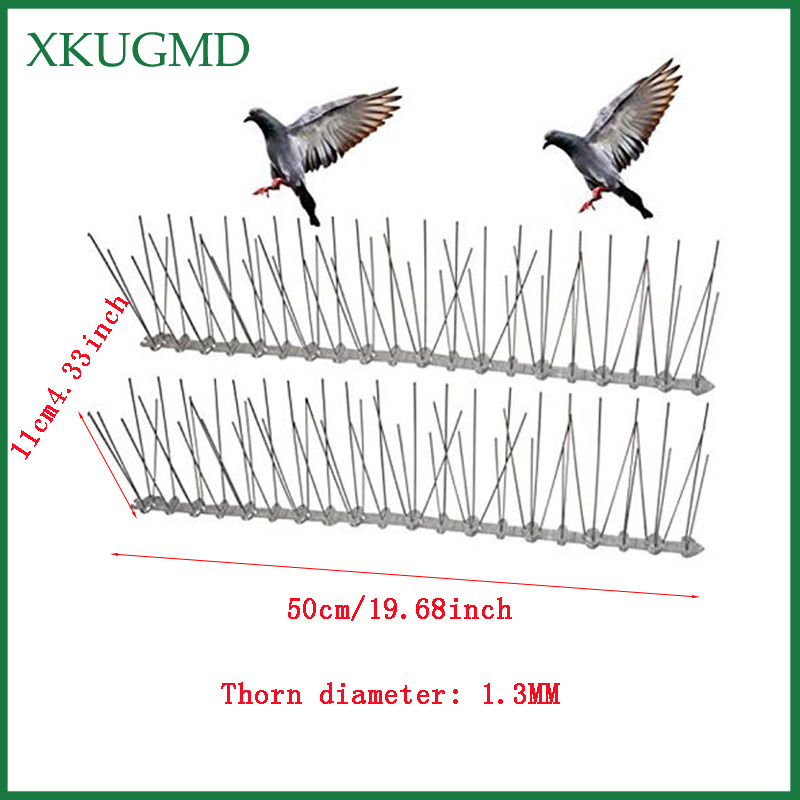 Image 2 - 1/3/5/10/15PCS Stainless Steel Bird Stinger Get Rid Of Bird Pests To Protect Orchard Bird Catcher Scare Birds Pest Control-in Traps from Home & Garden