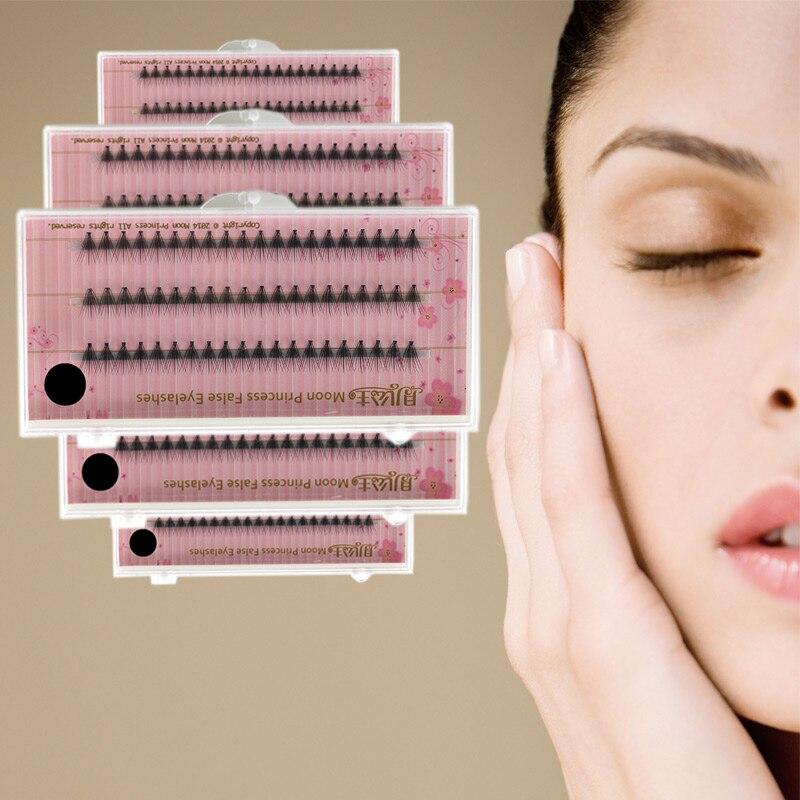 60 pcs 0.07mm thickness C curl 6mm-12mm length artificial natural long individual cluster eyelashes woman girls make up tools