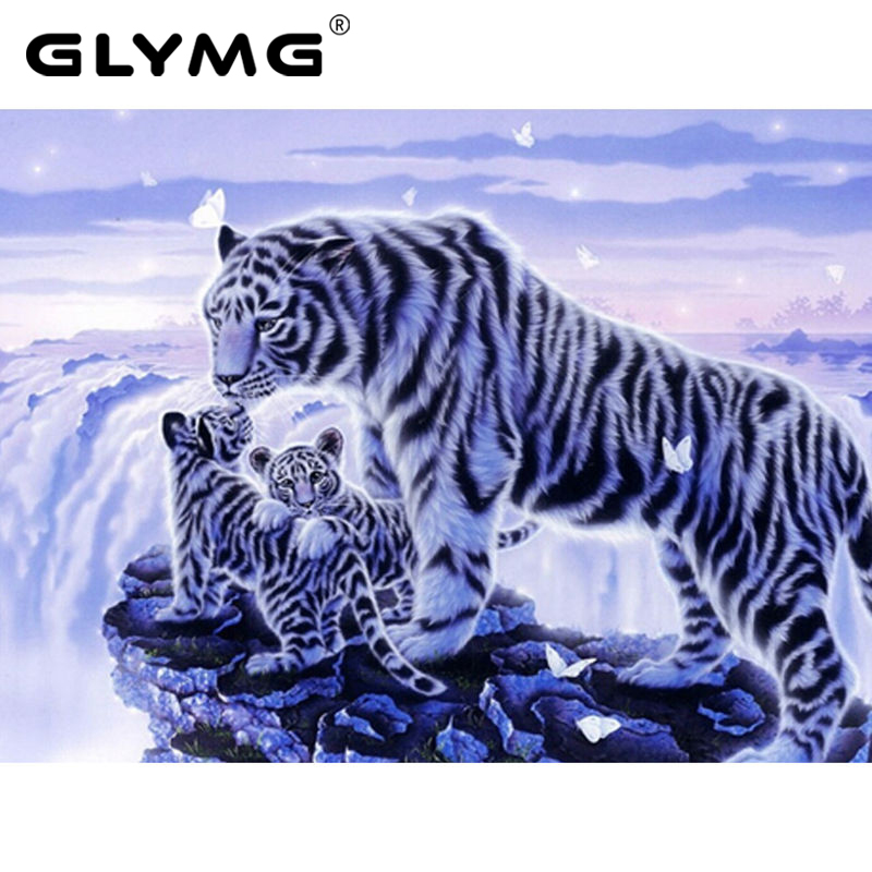 Needlework 5D Diy Diamond Painting Tiger In the Snow Animal serie Diamond embroidery Kits Mosaic Picture All Full Drill Square