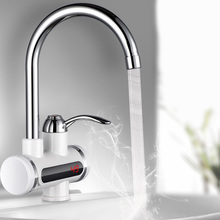 Digital Electric Water Heater Tap Instant Hot Water Faucet Heater Cold Heating Faucet Tankless Instantaneous Water Heater EUPlug