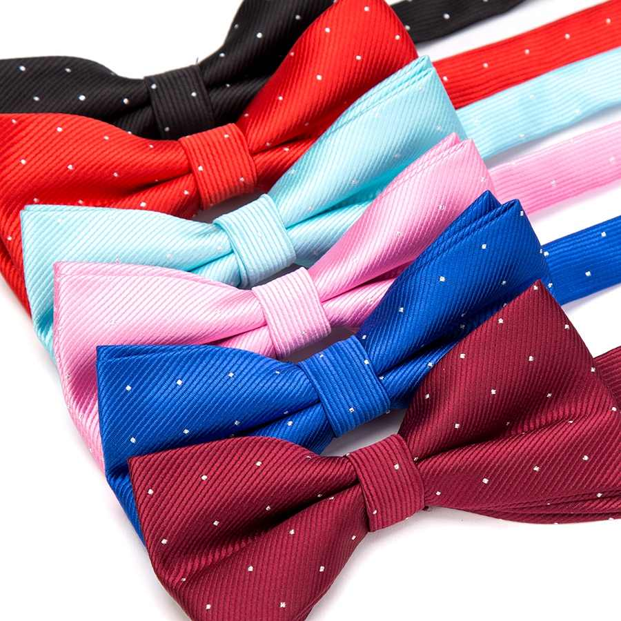 Men Bowtie Fashion Butterfly Gravata Party Wedding Bow Tie for Boys Girls Candy Color Dot Pattern Bowknot Accessories Necktie