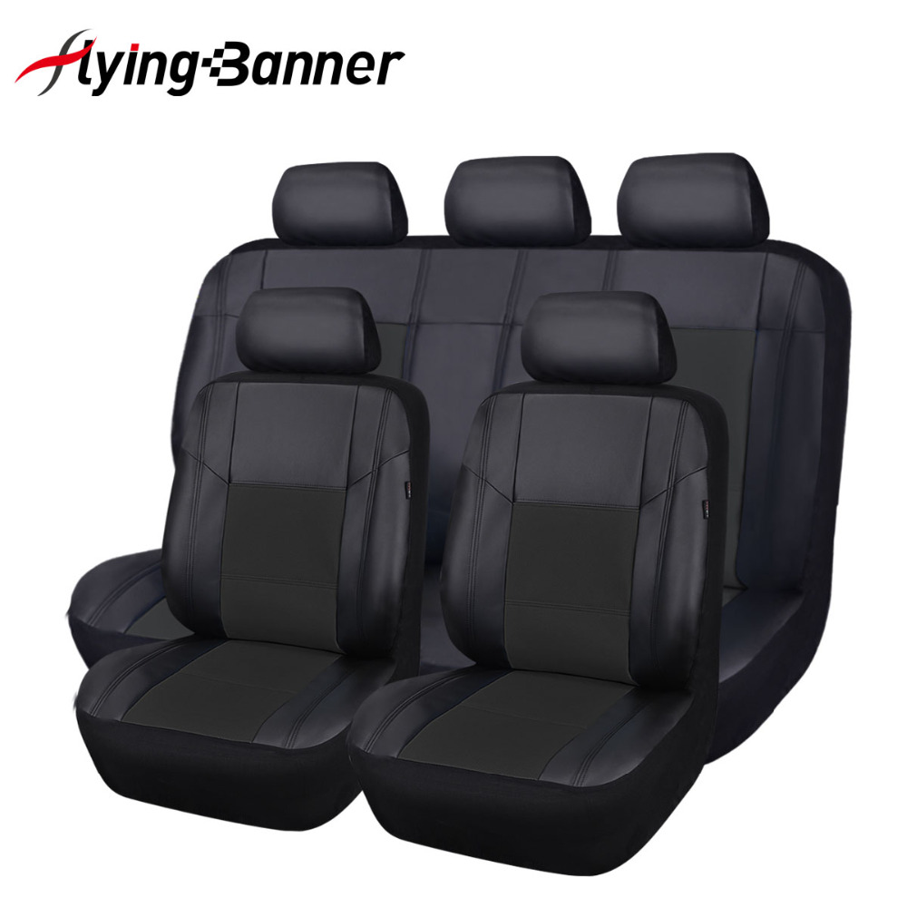 Flying Banner11PCS PU Leather Car Seat Covers Universal