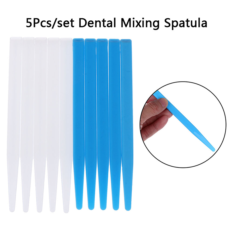 5Pc Dental Mixing Spatulas Plastic Dental Blue Alginate Mixing Plaster Spatula For Impression Material Dental Tools New