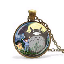Anime My Neighbor Totoro Necklace pendant Fairytale chain Jewelry women men gift vintage antique charm