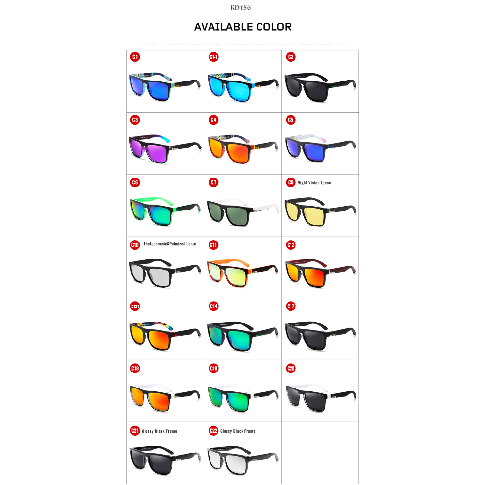 KDEAM Fashion Men Sunglasses Polarized Comfort Sun Glasses Women Mirror New lens Square Frame UV400 With Original Case KD156 in Men 39 s Sunglasses from Apparel Accessories