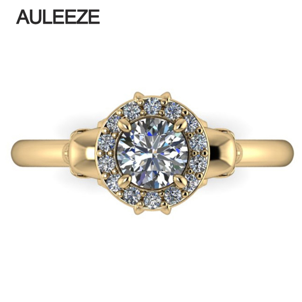 Aliexpress : Buy Halloween Solid 10k White Gold Engagement Ring Double  Skull Halo Simulated Diamond Vintage Wedding Ring Unique Gold Diamond Ring  From