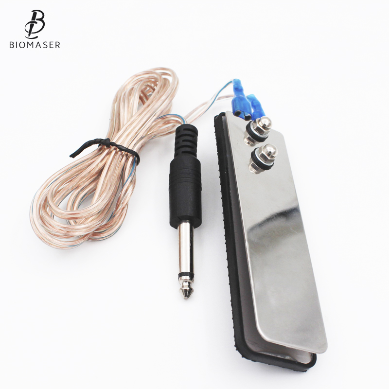 Mini Stainless Steel Foot Pedal Switch Controller Tattoo Power Supply Machine Footswitch Clip Cord Tattoo Accessory Tools