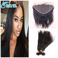 Top Quality Straight Human Hair 13x6Lace Frontal Closure With Bundles 3/4 Pcs,Malaysian Virgin Hair With Frontal Closure
