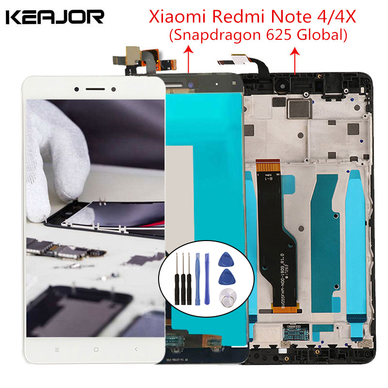Für Xiaomi Redmi Hinweis 4X LCD Bildschirm Redmi Hinweis 4 Display mit Rahmen für Redmi Hinweis 4 Globale Version 5.5 ''Snapdragon 625
