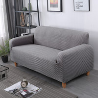 100% knitted sofa cover all inclusive solid color stretch Elastic fabric Slipcovers for living room sectional couch covers