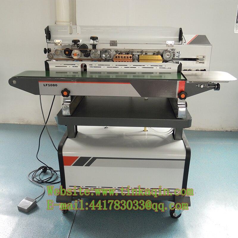 1080A machine de cachetage d'aspiration de vide continu machine de cachetage d'échappement de nourriture de scelleur de vide d'aspiration continue