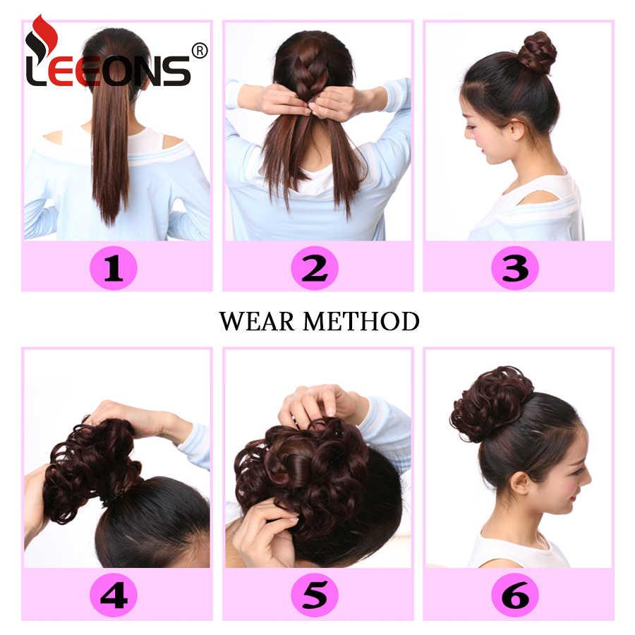 Extension de cheveux élastique femmes | Chouchou Scrunchie, bande de postiche, accessoires de cheveux noir marron