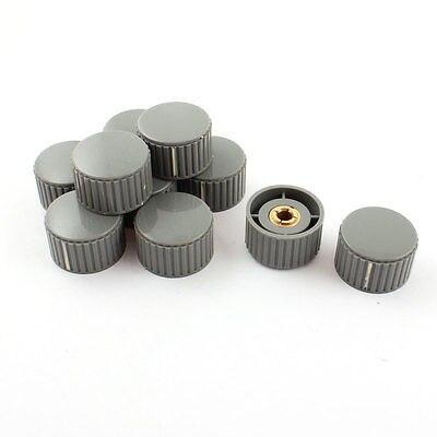 6mm x 32mm Volume Control Gray Plastic Nonslip Potentiometer Knob 20pcs yellow black plastic nonslip 6mm 15 64 shaft potentiometer knobs