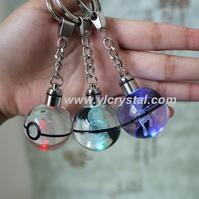 Crystal Keychian 3D Laser Customize Pokmon Ball Design For Birthday Gift
