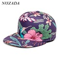 Brands NUZADA Leopard Men Women Baseball Cap Snapback 3D Printing Couple Sports Travel Hip Hop Hats Quality Cotton Caps Bone