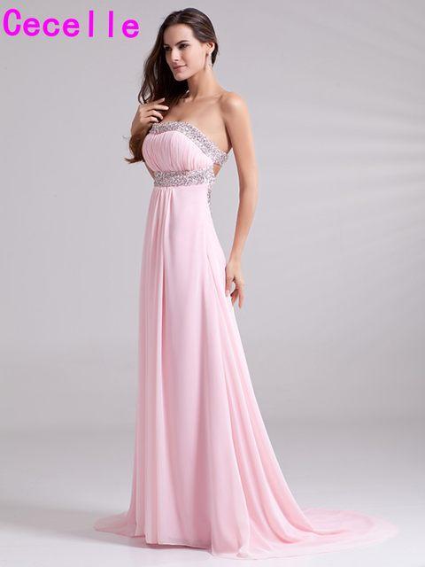 Tienda Online Rosa a-line formal largo Vestidos de noche para los ...
