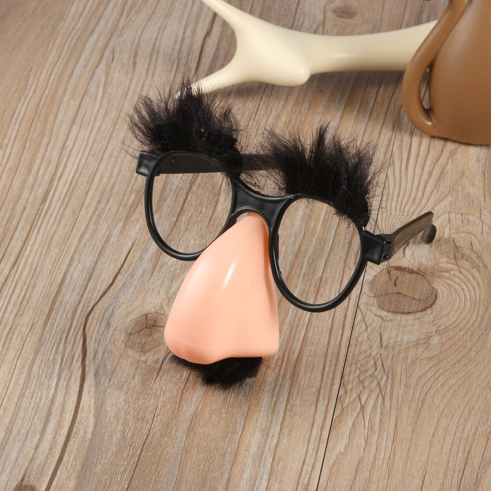 DIY Decor Glasses Mustache Fake Nose Clown Fancy Dress up Costume Props Fun Party Favor for Christmas Party Photo Props