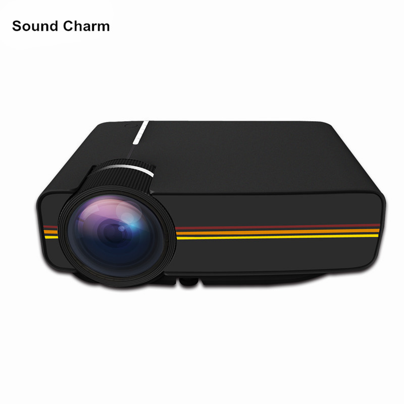 Newest YG400 Mini pico Projector For Video Games TV Beamer Project Home Theatre 1000lumens Movie with HDMI VGA AV SD USB все цены