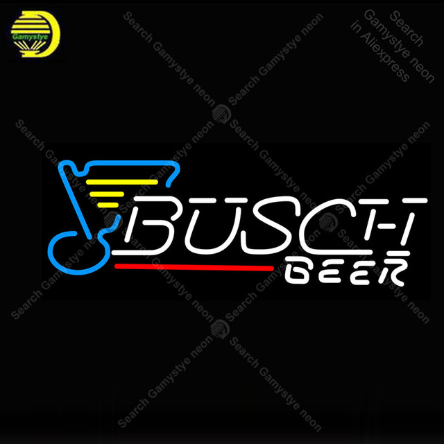 NEON SIGN For Busch Beer NEON Light Sign GLASS Tube Decor Beer Bar Room Windows Handcraft Sport anuncio luminoso Dropshipping