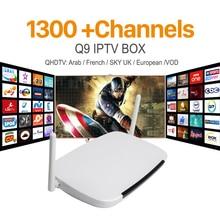 Melhor Caixa de IPTV Arabic Android Caixa Smart TV 1G/8G Com 1300 Europa Holanda Turco Espanhol Francês Portugal Canais VOD Filmes