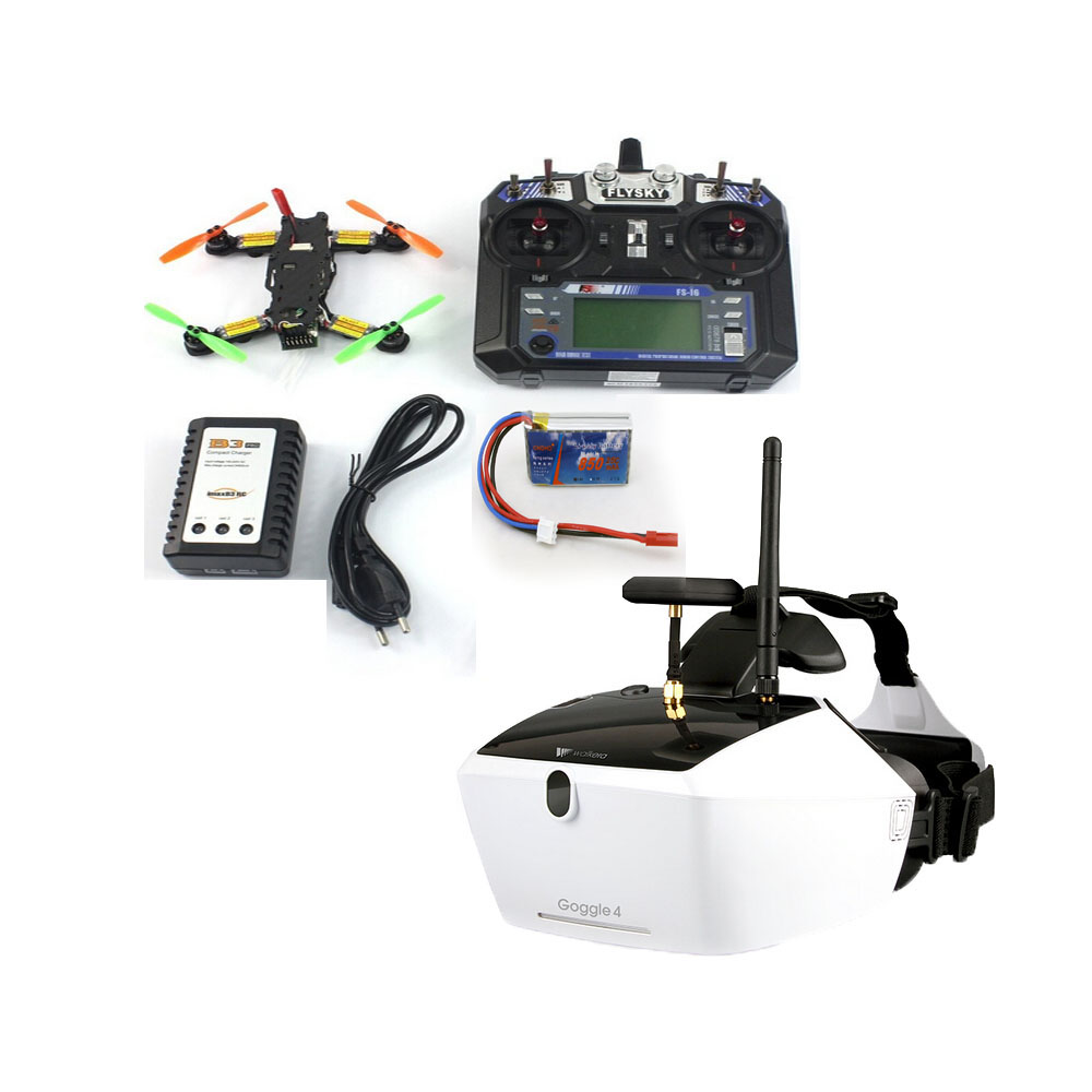 цена jmt F17840-E/F 5.8G 40CH FPV 2.4G 6CH 130 RTF Full Set TL130H1 Walkera Goggle 4 520TVL Camera RC Mini Racer Quadcopter Drone