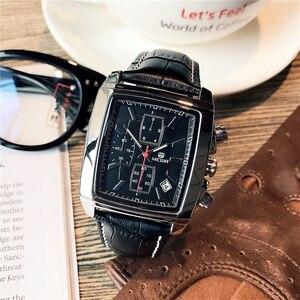 Image 2 - MEGIR Top Marke Luxus Männer der Mode Rechteck Uhr Einzigartige Gravierte Zifferblatt Military Sport Uhren Relogio Masculino Esportivo